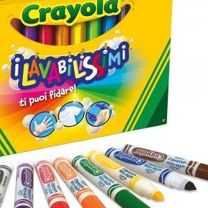 ماژیک قابل شست و شو 12 رنگ کودک crayola کد 8329