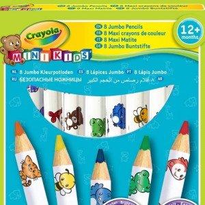 پاستل مداد رنگی 8 رنگ کودکjumbo decorated crayola کد 3678