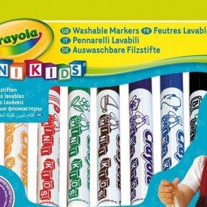 ماژیک قابل شست و شو 12 رنگ کودک crayola کد 8325