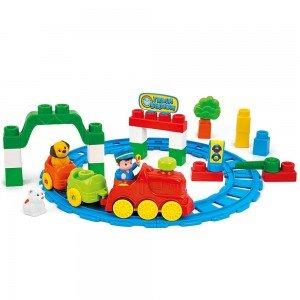 ریل و قطار 30 تکه کودک clementoni کد 14928