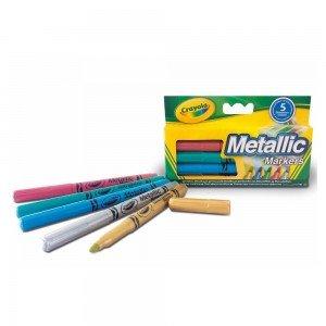 ماژیک 5 رنگ کودک metallic markers crayola کد 5054