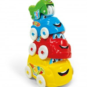 ست ماشین 4 عددی Baby Clementoni مدل Fun Vehicles Hide and Stack 17111