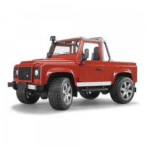 لندروور اسباب بازی پیک آپ bruder مدل Defender Pick Up Car 02591