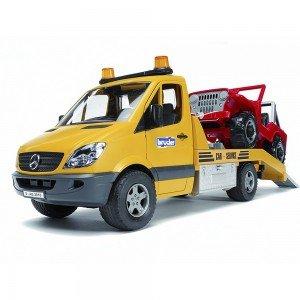 یدک کش و کامیونت بازی حمل خودرو مرسدس بنز bruder مدل 02535
