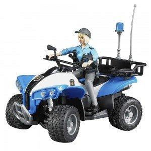 موتور چهار چرخ پلیس bruder كد Police-Quad with Police woman 63010