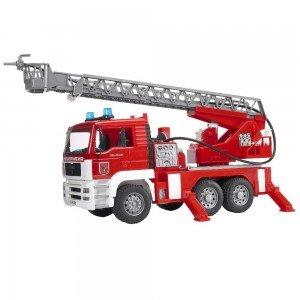 ماشین آتش نشانی با آژیر bruder مدل MAN Fire engine with selwing ladder 02771