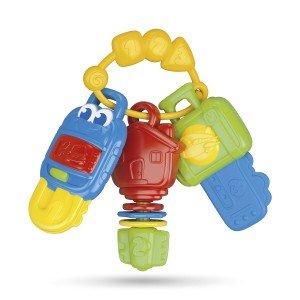 دندان گیر کلید چراغدار سه عددی Baby Clementoni مدل Electronic Keys 17107
