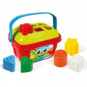 سبد پازل رنگارنگ Baby clementoni کد Shape Sorter Bucket 17106