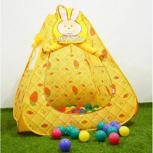 چادر بازی خرگوش با 100عدد توپ مدل ching ching cbh-12
