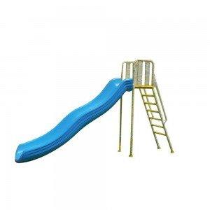 سرسره پلی اتیلنی با اسکلت فلزی رنگ آبی