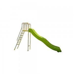 سرسره بلند با اسکلت فلزی رنگ سبز