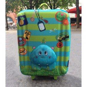 چمدان چرخدار بزرگ طرح اسب آبی okiedog مدل 80162