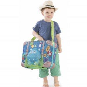 بهترین هدیه چمدان کودک اسب آبی okiedog مدل 80074
