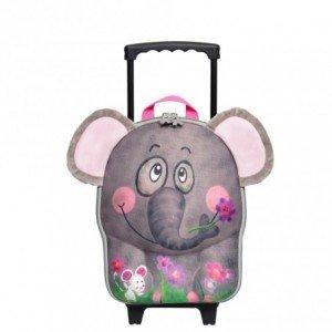 چمدان چرخدار کوچک فيل okiedog مدل 80012
