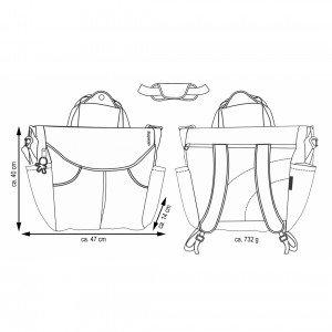 ابعاد کیف مادر سومو okiedog مدل 28264