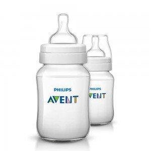 شیشه شیر کلاسیک پلاس 260میلی لیتر دوتایی SCF563/62 avent