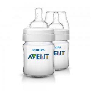 شیشه شیر کلاسیک پلاس 125میلی لیتر (طلق) دوتایی SCF560/62 avent