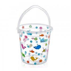 سطل آب حمام baby jem کد 399 رنگ شفاف