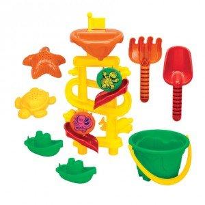 میز شن و آب بازی با ابزار و کاور مدل grow'n up 3019