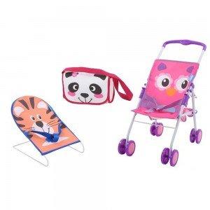 کالسکه و نی نی لای لای و کیف لوازم عروسک HAUCK ZOO TRAVEL N CARE 94525