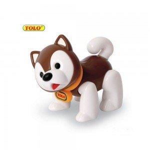 عروسک سگ اسکیمو قهوه ای نشکن   tolo 87425