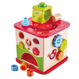 بازی و سرگرمی با مکعب بازی چوبی hape مدل 1812