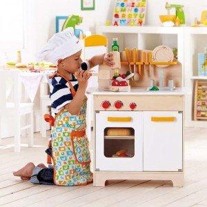 آشپزخانه چوبی سفید hape مدل 3100