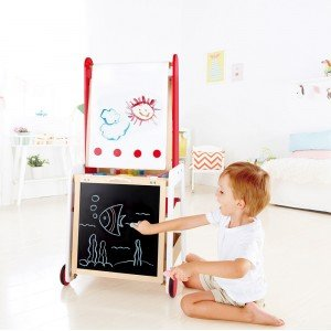 فروش تخته نقاشی دوطرفه CREATE AND DISPLAY EASEL hape 1055 بهترین هدیه برای کودکان