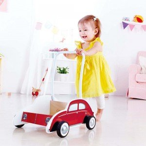 واکر چوبی کودک 0380 BEETLE WALKER (red) hape