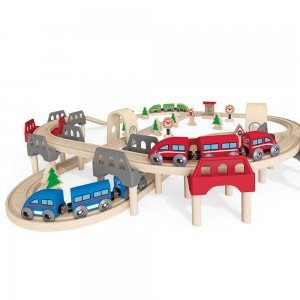 ریل قطار کودک3701 HIGH & LOW RAILWAY SET hape