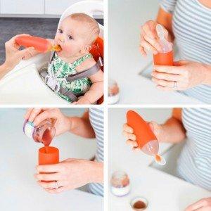 قاشق مخزن دار غذای کودک سبز boon کدb10123