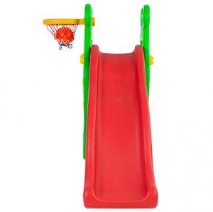 سرسره موجدار کودک با حلقه بسکتبال