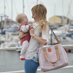 کیف لوازم نوزاد pacapod مدل Richmond رنگ dusky pink herringbone کد 0215
