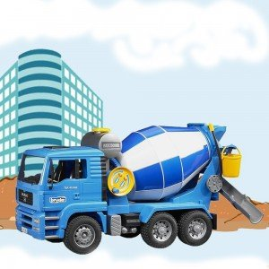اسباب بازی میکسربتن کامیون مان bruder مدل MAN TGA Cement Mixer 02744