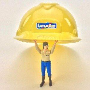 کلاه ایمنی کودک bruder مدل Cunstruction toy helmet 10200