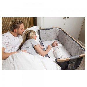 تخت كنار مادر قابل حمل صورتی كوزی cozee