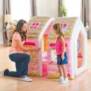 خرید کلبه کودک با مبل و میز Intex طرح پرنسس کد 48635