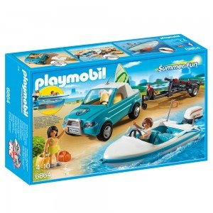 پلی موبیل مدل Surfer Pickup with Speedboat 6864