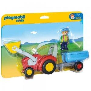 پلی موبیل مدل Tractor with Trailer 6964