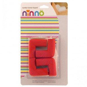 محافظ گوشه جامبو قرمز کوچک (4عددی) ninno 05