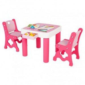 میز و صندلی دو نفره کودک مدل edu_play کد TB9945
