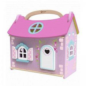 خانه عروسک چوبی قابل حمل classic world 4156