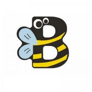حروف B چوبی classic world 4404