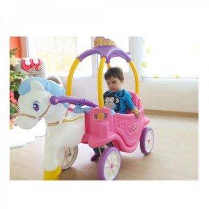 ماشین پایی دو کاره پرنسس 642326 Little Tikes Princess Horse & Carriage