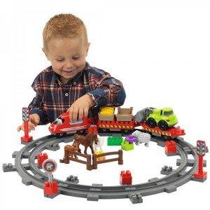 قطار با ریل ecoiffier 3068