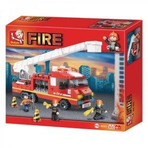 بلوک 270 تکه ماشین آتش نشانی SlubanTruck M38-B0221
