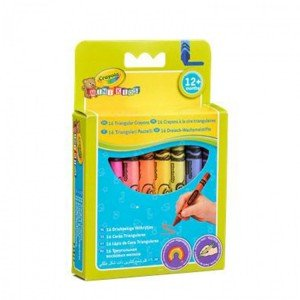 مداد شمعی 16 رنگ مثلثی crayola کد 0016 triangylar crayon