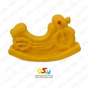 الاکلنگ تعادلی موتور یک نفره رنگ زرد کد 5083