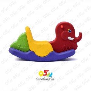 الاکلنگ تعادلی یک نفره فیل قرمز زرد