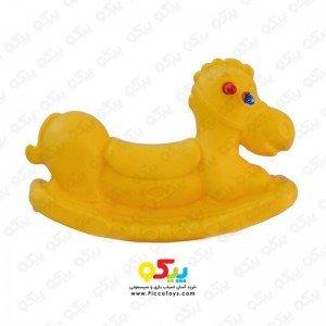 الاکلنگ تعادلی اسب یک نفره  رنگ زرد